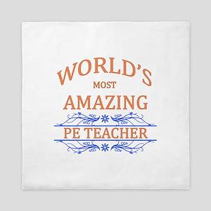 PE Teacher Queen Duvet