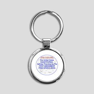 1stAmendmentArea Round Keychain