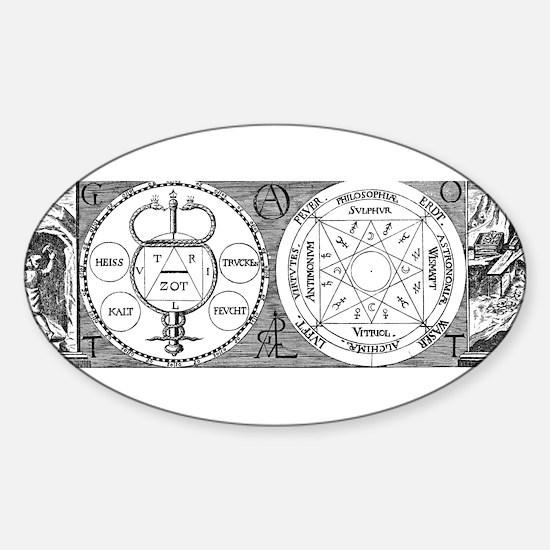 Hermetic Magic Diagram Oval Decal