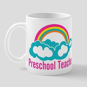 Preschool Teacher Rainbow Cloud Mug