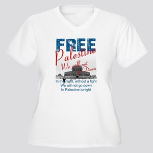 Free Palestine Women's Plus Size V-Neck T-Shirt