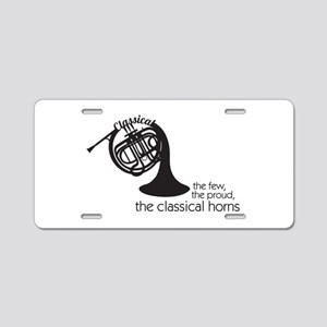 The Classical Horns Aluminum License Plate