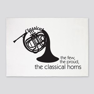 The Classical Horns 5'x7'Area Rug