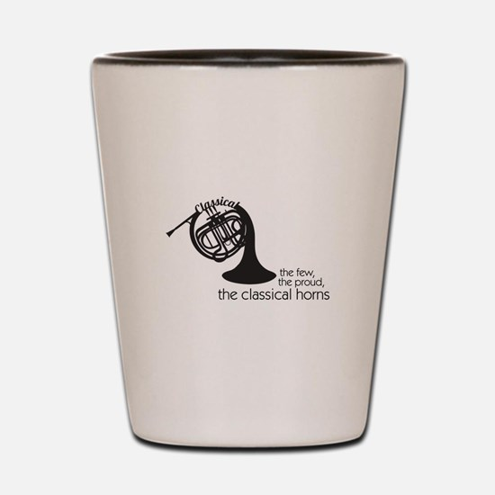 The Classical Horns Shot Glass