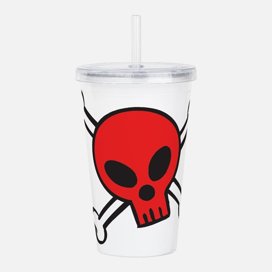 red-skull-n-bones.png Acrylic Double-wall Tumbler