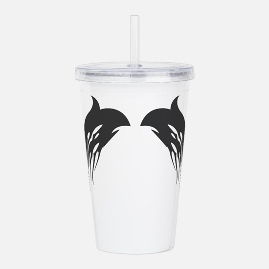 tribal-wings,black.png Acrylic Double-wall Tumbler