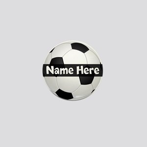 Personalized Soccer Ball Mini Button