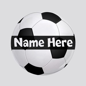 "Personalized Soccer Ball 3.5"" Button"