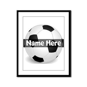 Personalized Soccer Ball Framed Panel Print