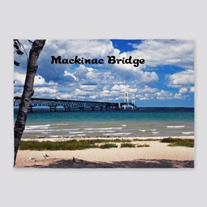 Mackinac Bridge 5'x7'Area Rug