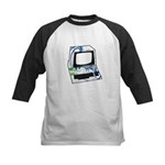 Old School Computer Kids Baseball Jersey