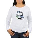 Old School Computer Women's Long Sleeve T-Shirt