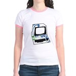 Old School Computer Jr. Ringer T-Shirt