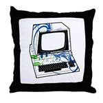 Old School Computer Throw Pillow