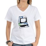 Old School Computer Women's V-Neck T-Shirt