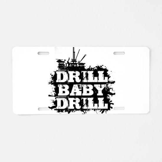 Unique Drilling Aluminum License Plate