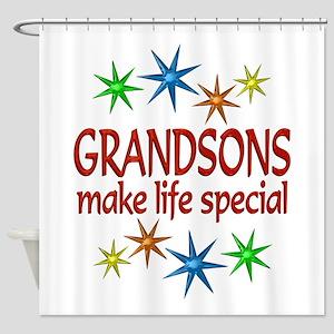 Special Grandson Shower Curtain