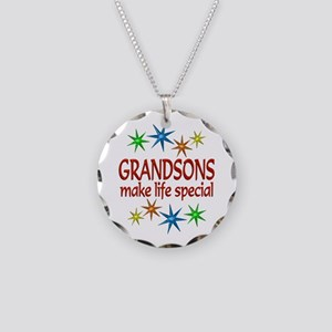 Special Grandson Necklace Circle Charm