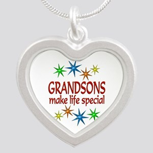 Special Grandson Silver Heart Necklace