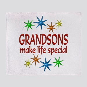 Special Grandson Throw Blanket