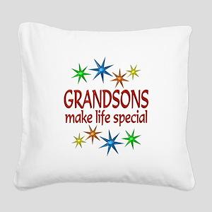 Special Grandson Square Canvas Pillow
