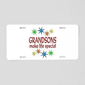 Special Grandson Aluminum License Plate