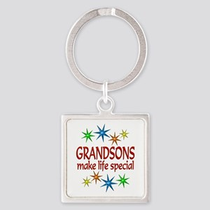 Special Grandson Square Keychain