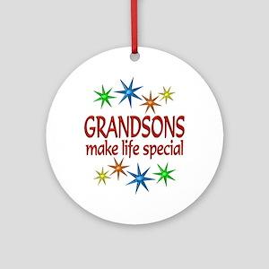 Special Grandson Ornament (Round)