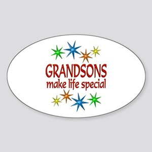 Special Grandson Sticker (Oval)