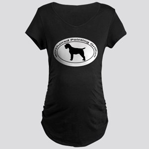 WIREHAIRED POINTING GRIFFON Maternity Dark T-Shirt
