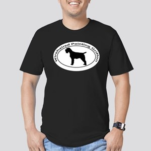 WIREHAIRED POINTING GR Men's Fitted T-Shirt (dark)