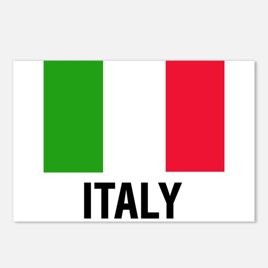 Cute Italy flag Postcards (Package of 8)