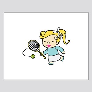 Girl Tennis Player Posters