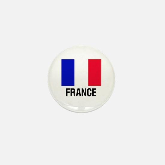 Cute French flag Mini Button