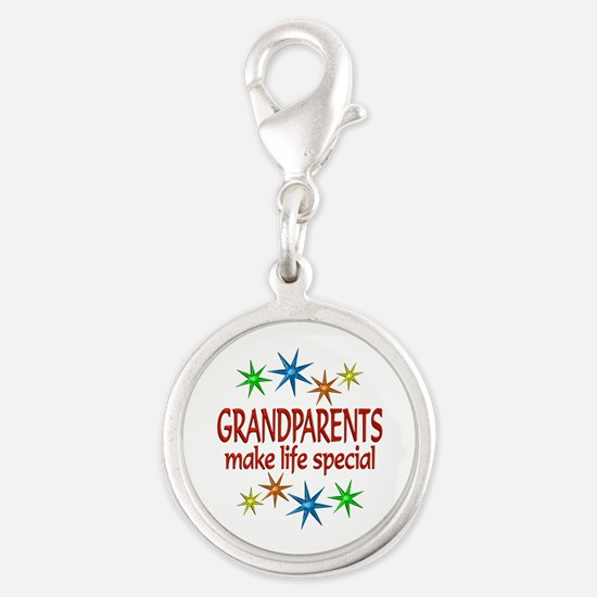 Special Grandparents Silver Round Charm
