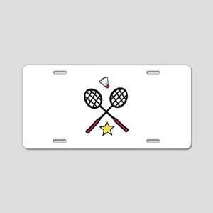 Badminton Gear Aluminum License Plate