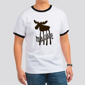 Maine Moose Ringer T