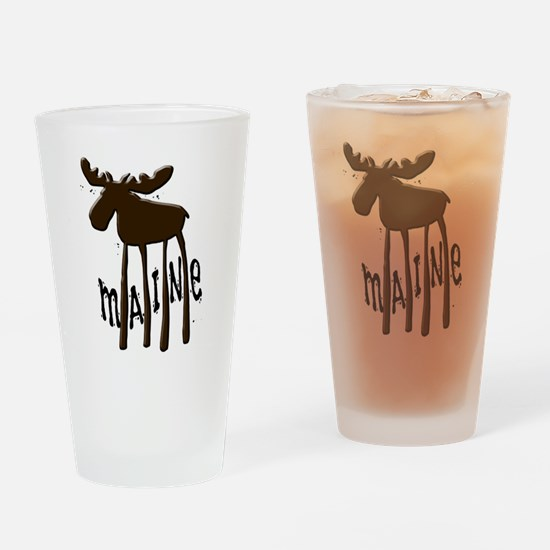 Maine Moose Drinking Glass