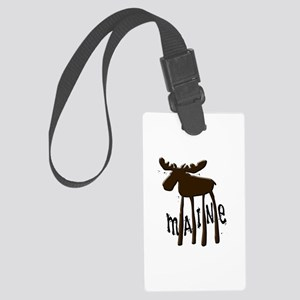 Maine Moose Large Luggage Tag