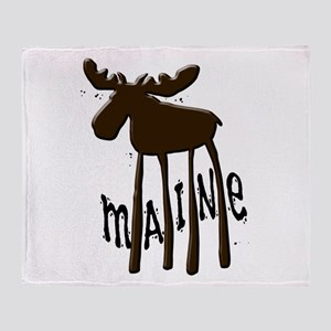 Maine Moose Throw Blanket