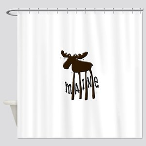 Maine Moose Shower Curtain