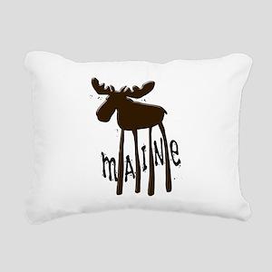 Maine Moose Rectangular Canvas Pillow