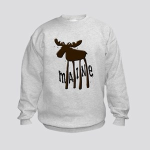 Maine Moose Kids Sweatshirt