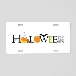 Halloween Aluminum License Plate