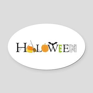 Halloween Oval Car Magnet