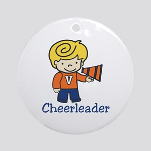 Cheerleader Ornament (Round)