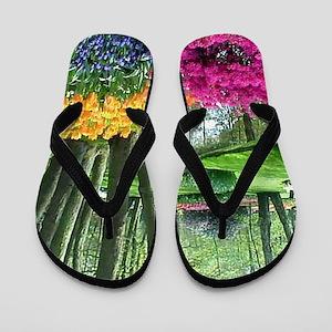 beautiful garden 2 Flip Flops
