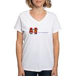 beagle bugler Valentine Women's V-Neck T-Shirt