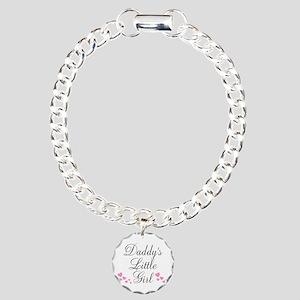 Daddys Little Girl Pink Hearts Bracelet