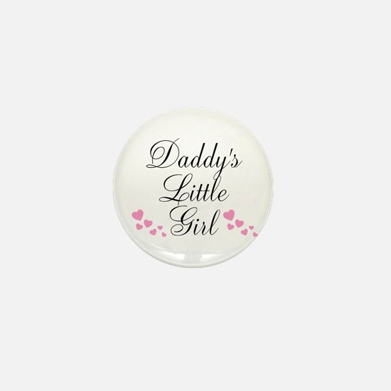 Daddys Little Girl Pink Hearts Mini Button